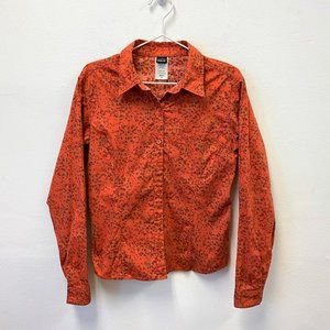 Patagonia Fitted Button Floral Shirt Sz 4